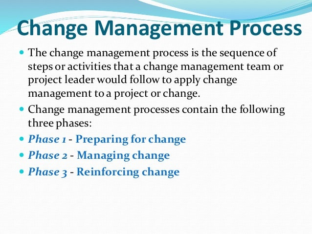 Managing change, change process, change types and challenges in chang…
