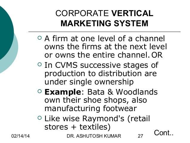 vertical marketing system adalah