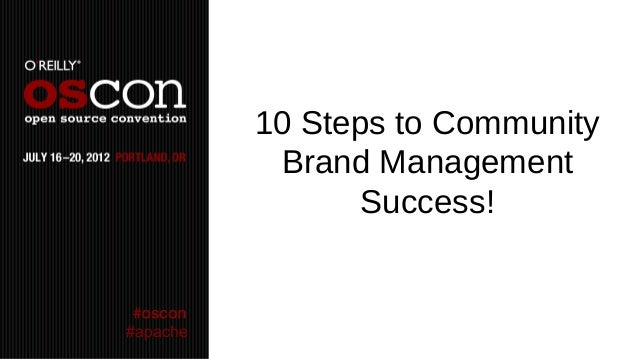 10 Steps to Community           Brand Management                Success!#apache