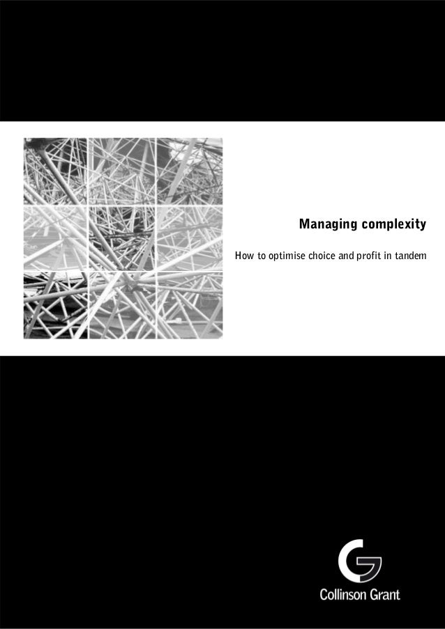 Managing complexity How to optimise choice and profit in tandem