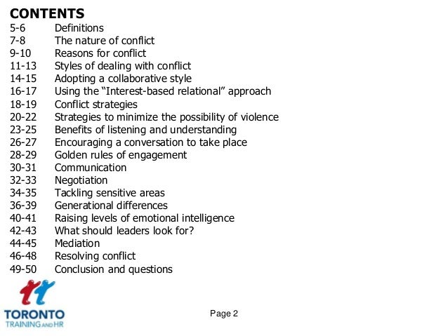 managing conflict at work a guide Here's how to manage conflict well you deal with conflict it's inevitable effectively managing conflict is imperative to generating trust and provides a helpful guide for identifying what our conflict predispositions might be the tki breaks down our conflict styles.