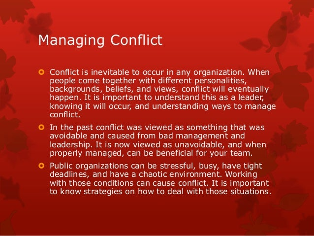 managing conflict in the workplace Conflict resolution in the workplace – avoid office strife by using these conflict resolution techniques from the university of notre dame's college of business.