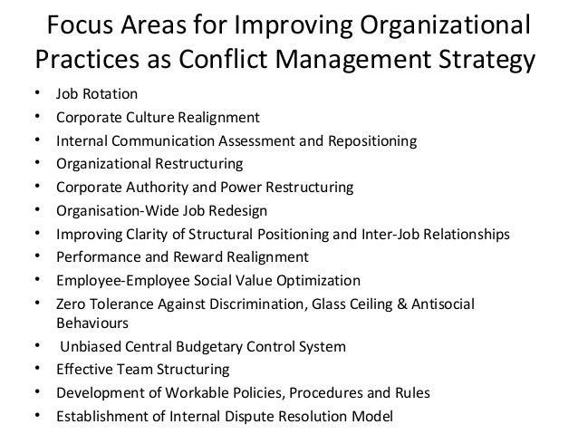 team strategy and conflict management Conflict is unpleasant, but sometimes inevitable, in business -- but these 5  approaches can help deal with it.