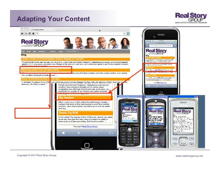 Adapting Your ContentCopyright © 2011 Real Story Group   www.realstorygroup.com