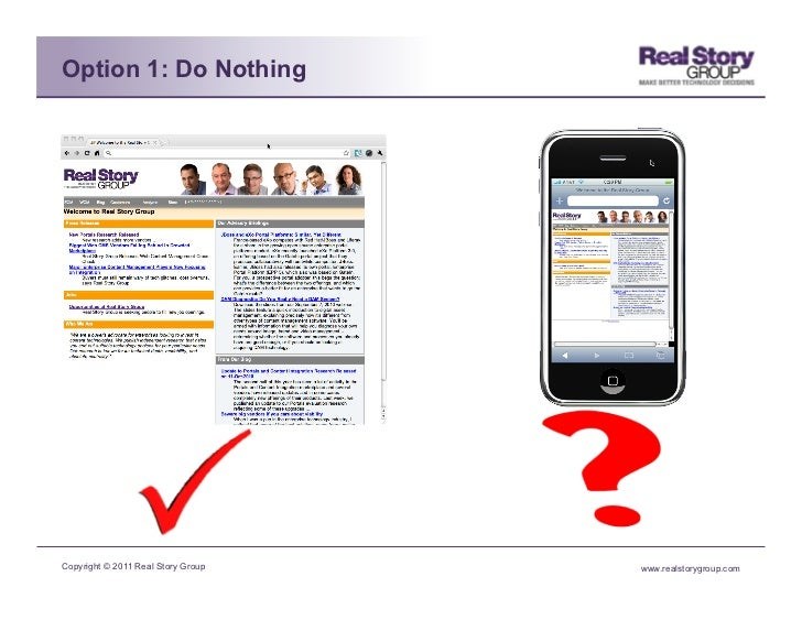 Option 1: Do NothingCopyright © 2011 Real Story Group   www.realstorygroup.com