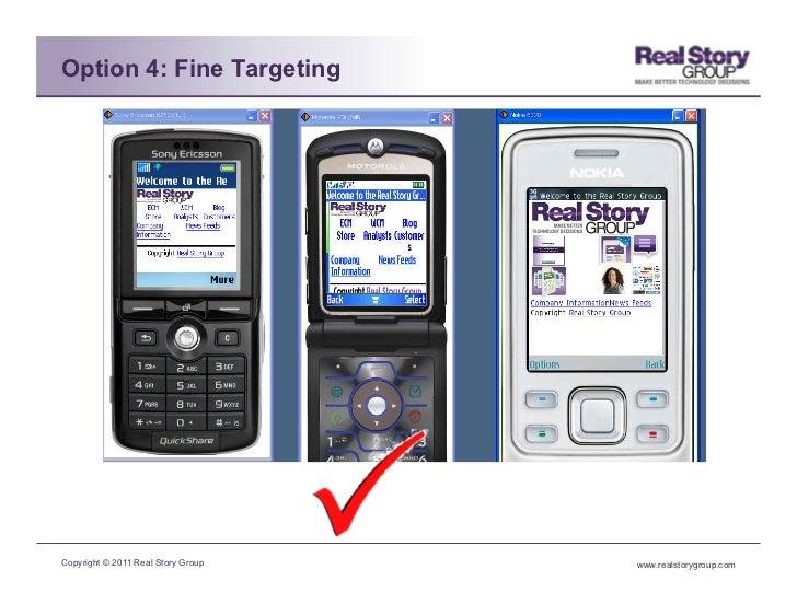 Option 4: Fine TargetingCopyright © 2011 Real Story Group   www.realstorygroup.com