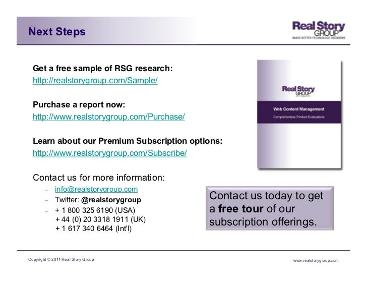 Next Steps  Get a free sample of RSG research:!  http://realstorygroup.com/Sample/  Purchase a report now:  http://www.rea...
