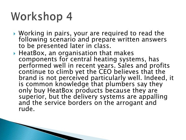 Working in pairs, your are required to read the following scenario and prepare written answers to be presented later in cl...