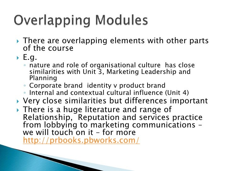 There are overlapping elements with other parts of the course<br />E.g. <br />nature and role of organisational culture  h...