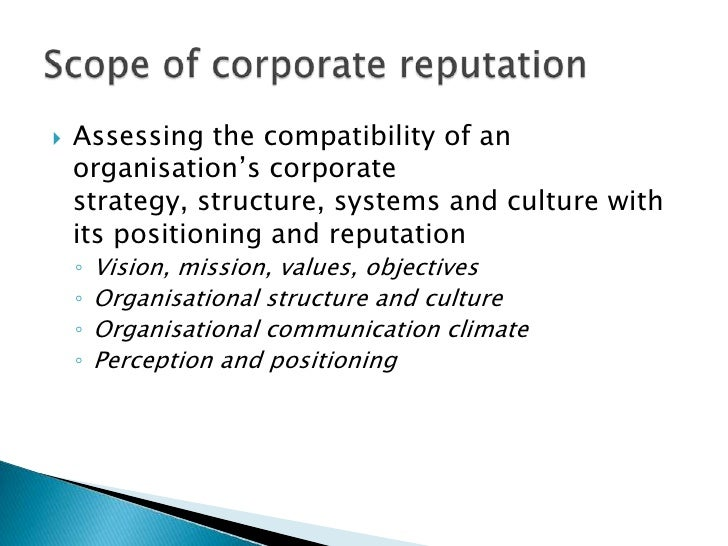 Assessing the compatibility of an organisation's corporate strategy, structure, systems and culture with its positioning a...