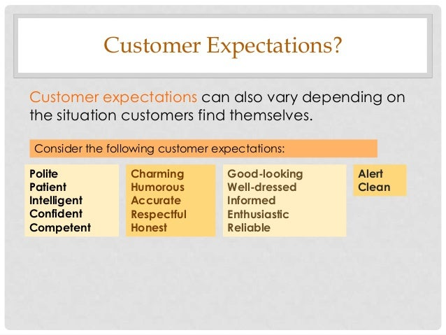 managing customer expectation Customer expectations are rising faster  but they all enhance the customer experience expectation no  5 essential strategies for managing a.