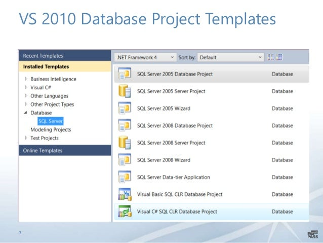 Managing database project with visual studio ssdt and tfs vs 2010 database project templates 7 fbccfo Images