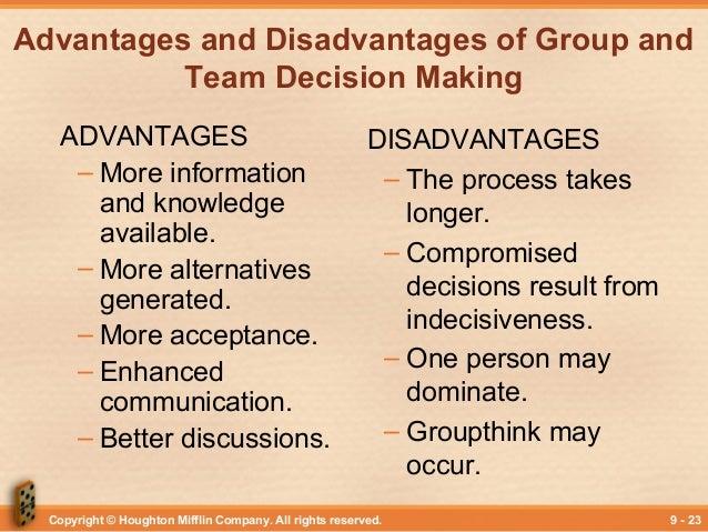 disadvantages of group communication