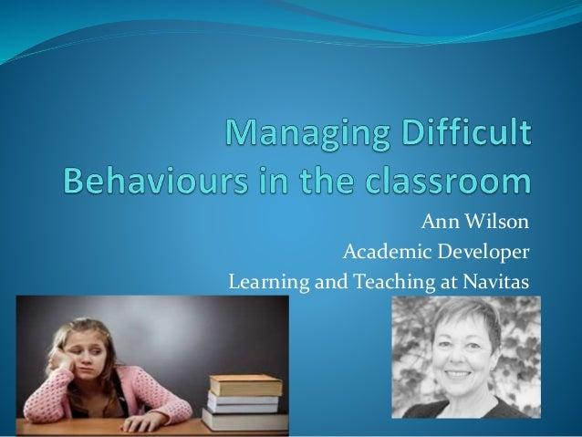 Ann Wilson Academic Developer Learning and Teaching at Navitas
