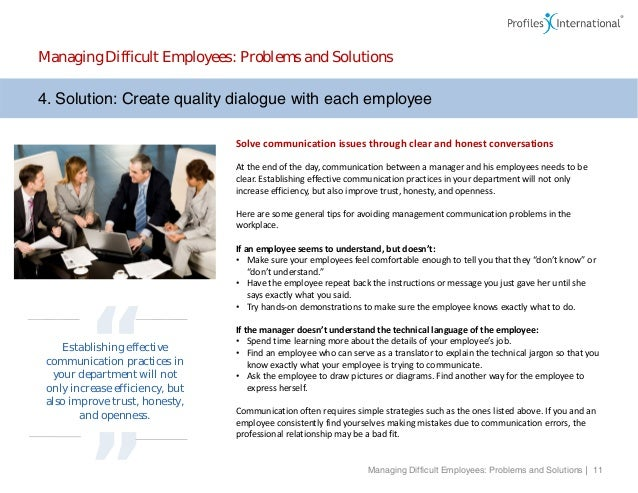 solutions to communication problems in the workplace