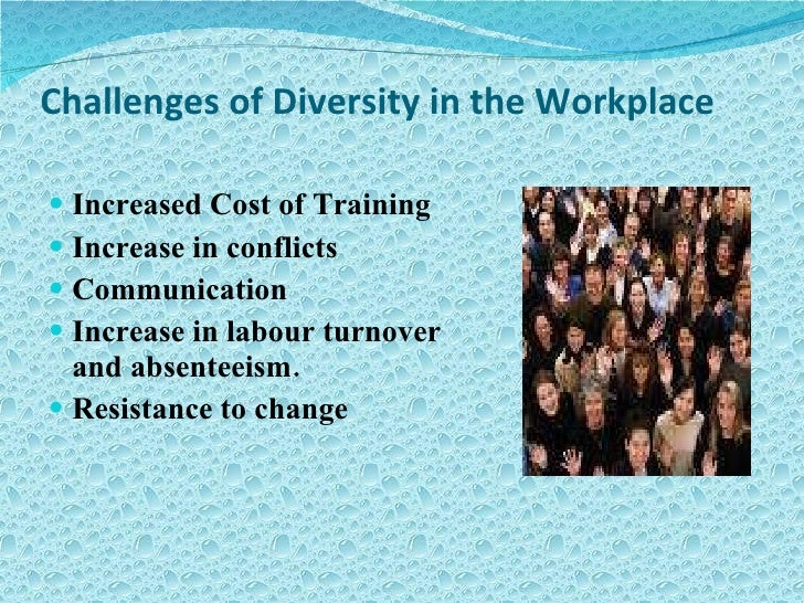 pros and cons of managing diversity in the workplace In the book, beyond race and gender, r roosevelt thomas defines managing diversity as a comprehensive managerial process for developing an environment that works for all employees successful strategic diversity programs also lead to increased profits and lowered expenses.
