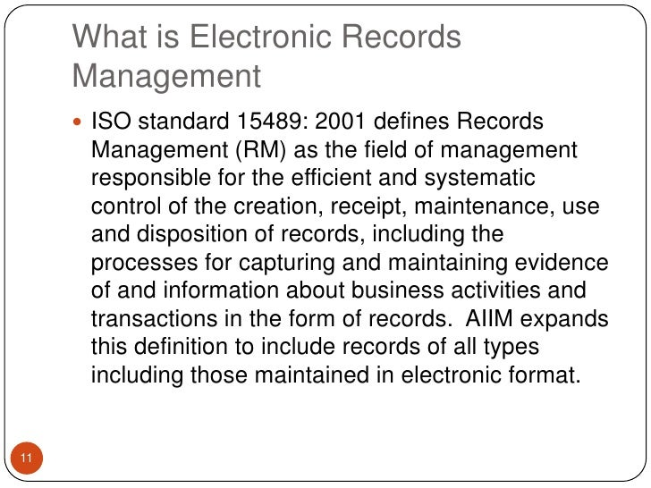 ISO 15489 – Benchmark for Records Management