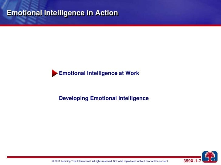 managing people emotional intelligence Emotional intelligence: managing emotions in the workplace presented by: sally ryan, dvm people with high eq make more money ( emotional intelligence) : is your ability to recognize and understand emotions in.