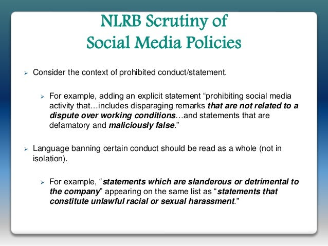 NLRB Continues Aggressive Crackdown on Social Media Policies