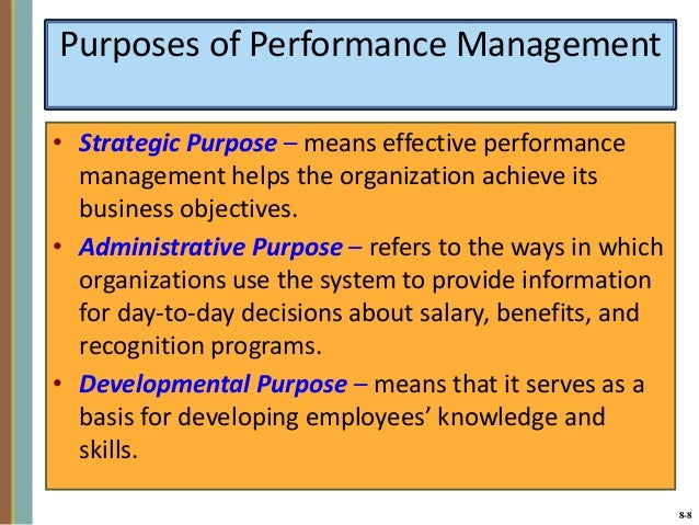 Managing Employees' Performance