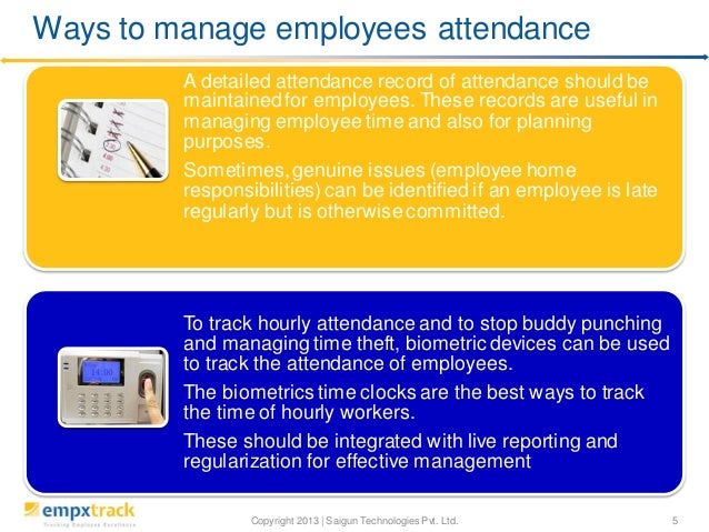 best way to track employee attendance
