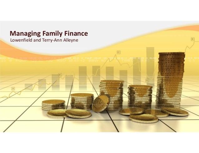 ManagingFamilyFinanceLowenfieldandTerry‐AnnAlleyne