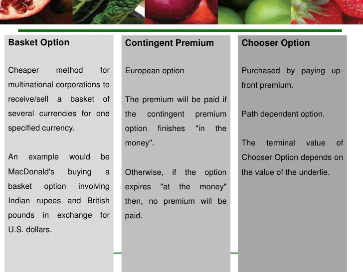 Credit risk on fx options
