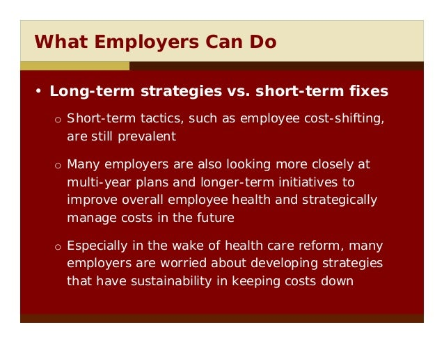 Controlling employee health care cost essay