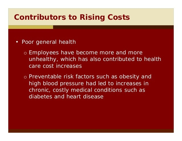 Controlling Health Care Benefit Costs