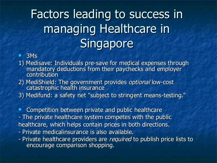 socialstudies managing healthcare in singapore Healthcare in singapore 3 topics challenges of  managing healthcare who pays for the healthcare.