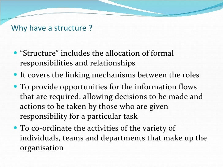 Managing Health  Social Care Final Essay An Overview Of Types Of Structure