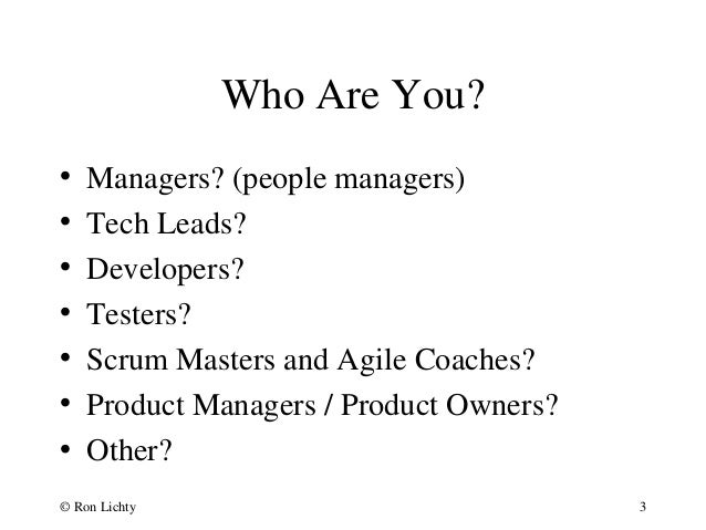 Managing in an Agile World Slide 3