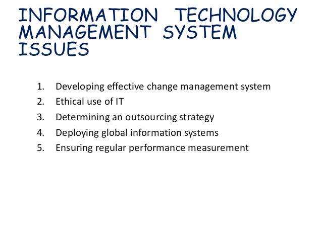 Technology Management Image: Managing Information Technology