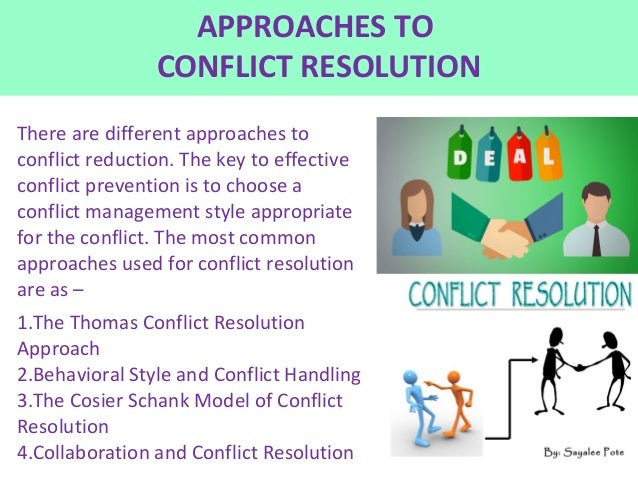 choosing a conflict management style Conflict is a disagreement despite the notion that people will consistently choose one or two of the conflict management styles, choosing an appropriate style.