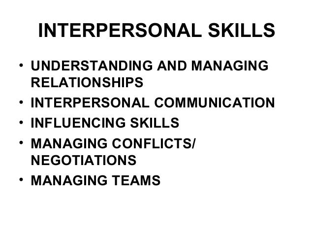 Managing interpersonal relationships lc