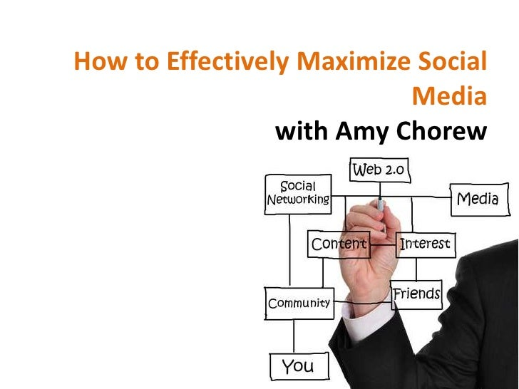How to Effectively Maximize Social                           Media                 with Amy Chorew