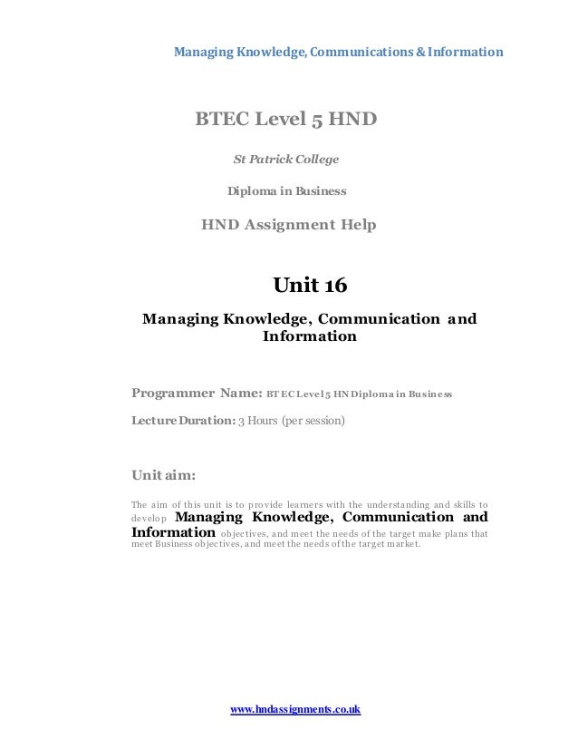 Managing communication knowledge and information