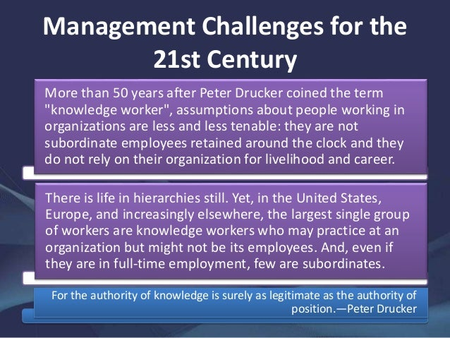 "managing knowledge workers When it comes to managing millennials, so-called ""millennial  first, a majority of  american millennials are ""knowledge workers""—a term."