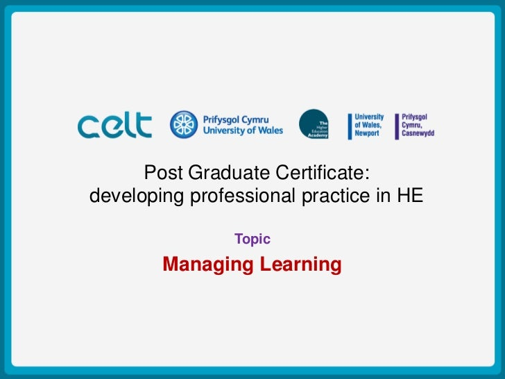 Post Graduate Certificate:Presentation Titlepractice in HEdeveloping professional                         Example         ...