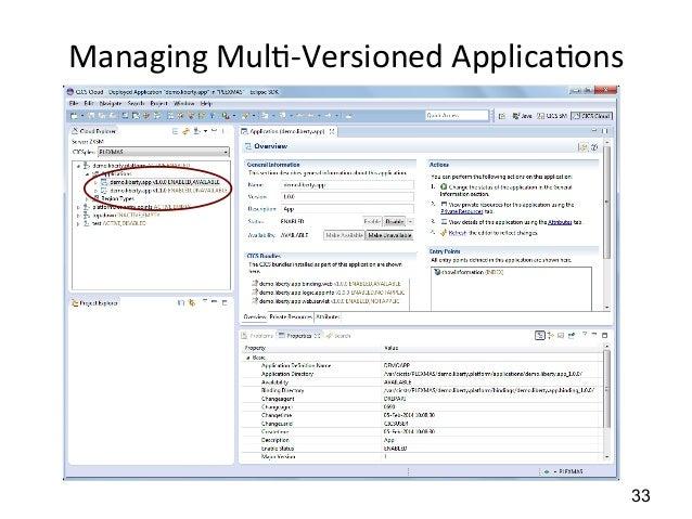 Managing  Mul)-‐Versioned  Applica)ons  33