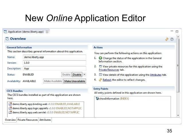 New Online Application Editor  35