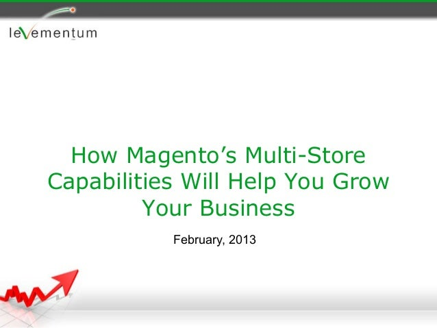 How Magento's Multi-StoreCapabilities Will Help You Grow         Your Business           February, 2013