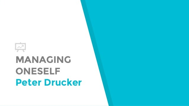 MANAGING ONESELF Peter Drucker