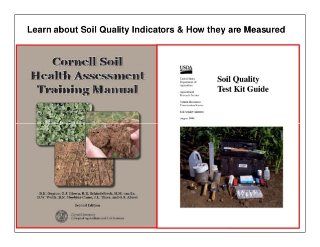 Managing organic matter for soil health and fertility for Soil quality indicators