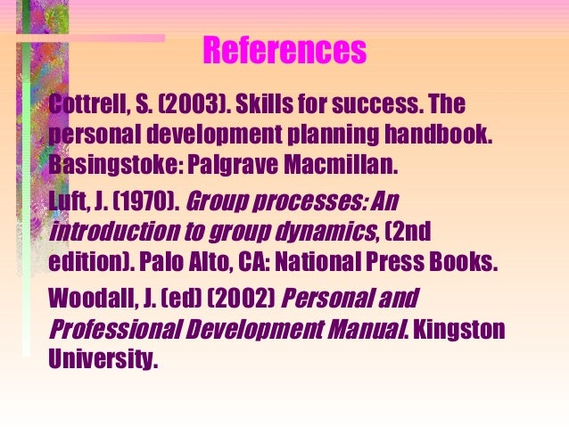 explain the roles of others in the development of a personal development plan in identifying strengt Upon and develop their strategies and policies for the implementation and enhancement of pdp it achieves this by identifying the key areas where pdp might be useful within also lead on work to investigate the role of pdp in the support of students undergoing rather than any of the other possible meanings.