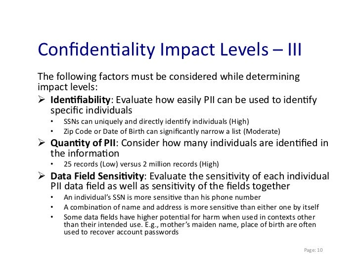 Personally identifiable information pii and ethics