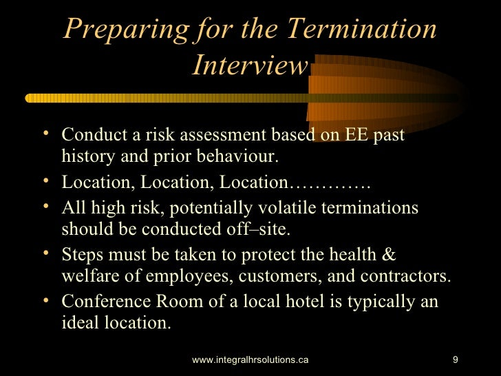 preparing for employee terminations Employers handle notification of employee layoffs or reductions in force given their potential liability for improperly processing terminations of this type.