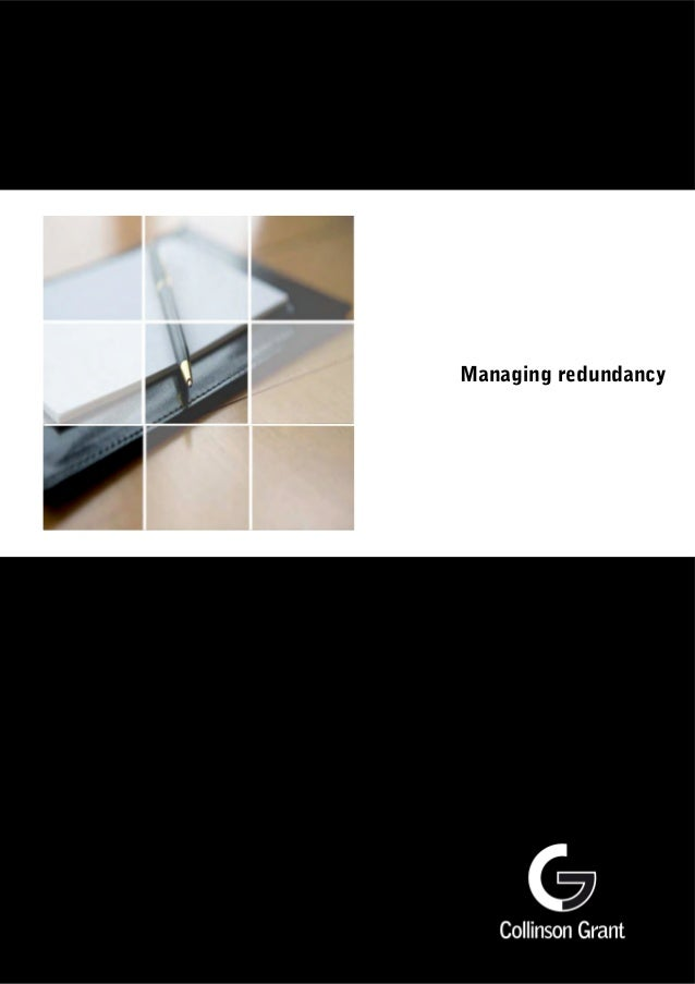 Managing redundancy