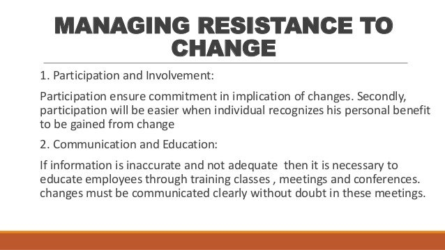 employee resistance to change essay A perception-based view of the employee: a study of employees' reactions to change of what perceptions and/or attitudes influence employees' resistance to change.