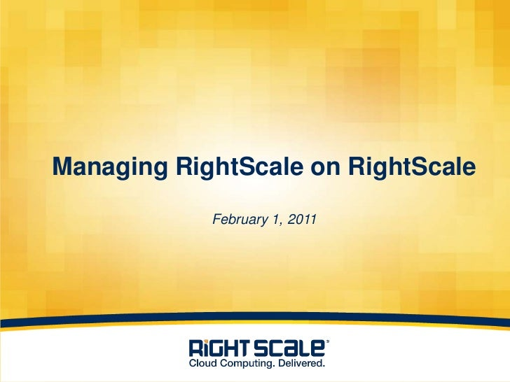 Managing RightScale on RightScale